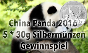 China Panda Münze 2016 — Gewinnspiel