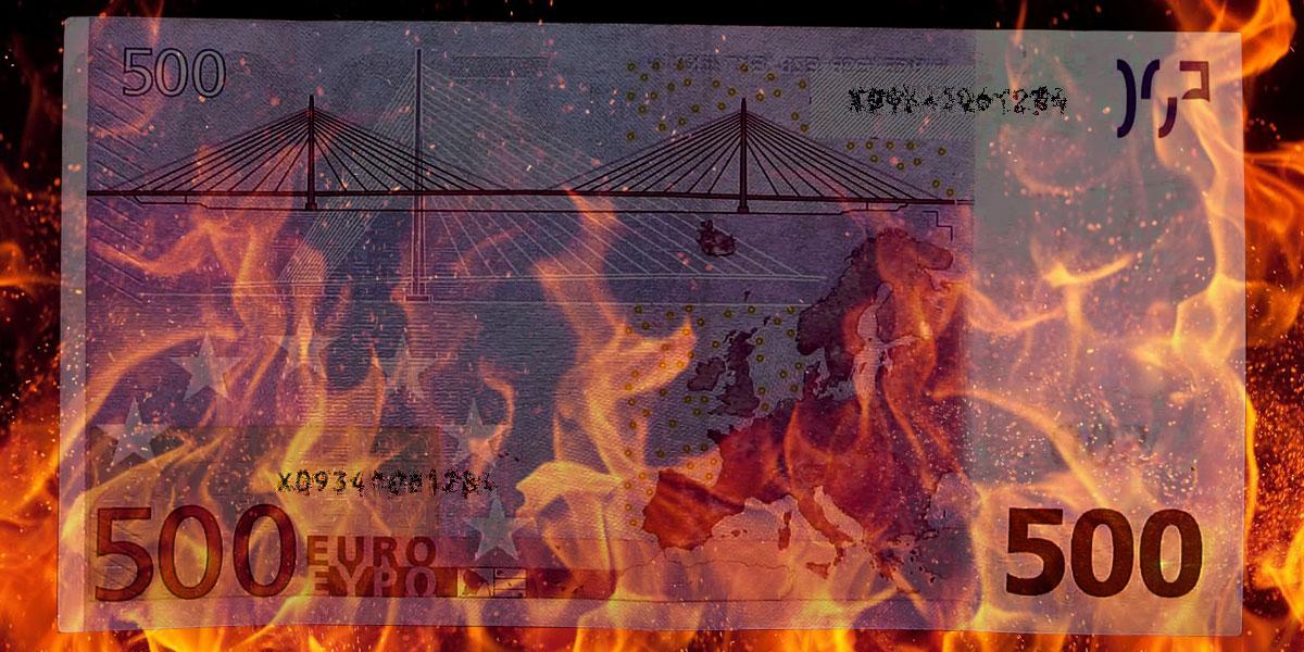 Ende von 500 Euro Banknote