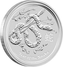 "Year of the Snake 2013 ""Jahr der Schlange 2013"" Lunar II Serie — Perth Mint"