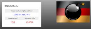 Staatsverschuldung — Schuldenuhr Deutschland — WordPress-Plugin (Widget)