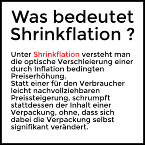 Shrinkflation — Was bedeutet Shrinkflation ?