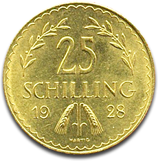 About the 25 Schilling Gold Coin