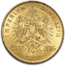 About the 4 Florin 10 Francs Gold Coin