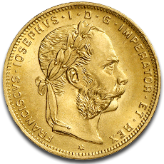 About the 8 Florin 20 Francs Gold Coin