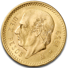 About The 10 Mexican Peso Gold Coin