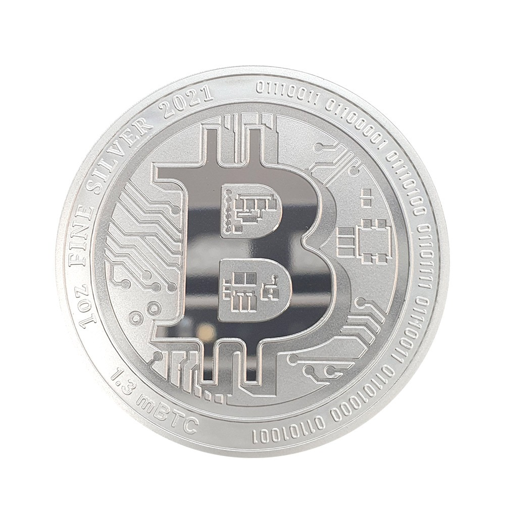1 oz Silver Bitcoin 2021 Front