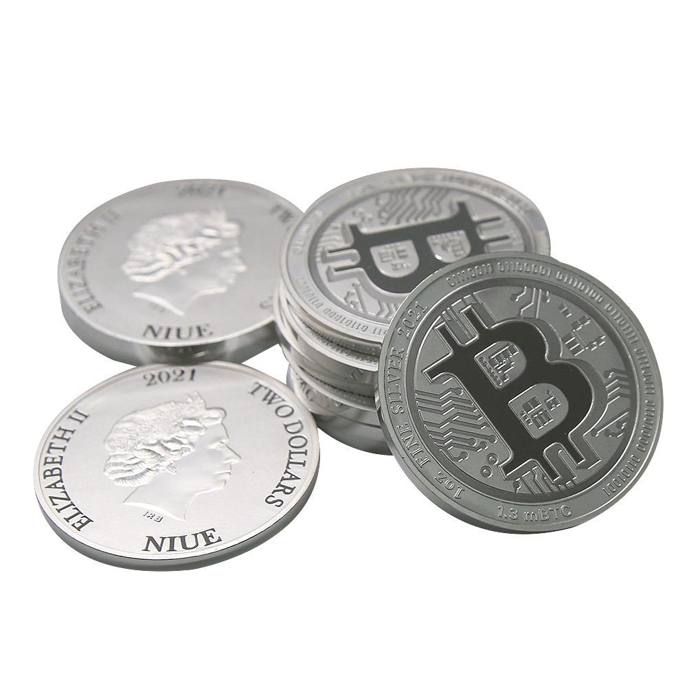 1 oz Silver Bitcoin 2021 Stack