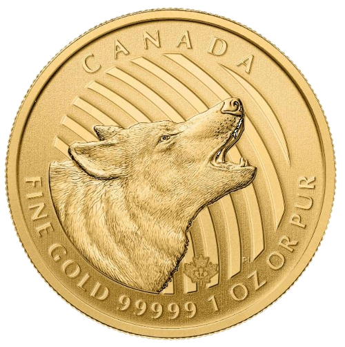 1 oz Call of the Wild Howling Wolf | Gold | 2014