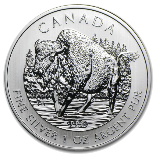 1 oz Bisonte Canadiense Wildlife Series | Plata | 2013