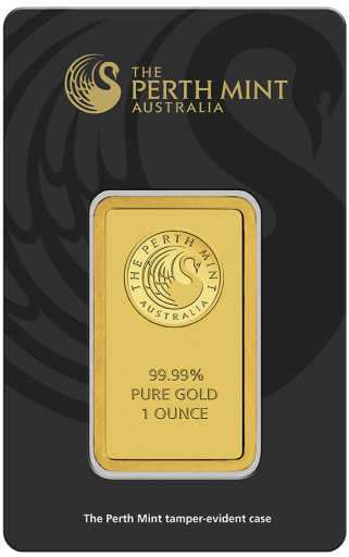 1 oz Gold Bar | Perth Mint | circulated