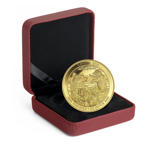 1 oz Grizzly Bear | Gold | Proof | 2015