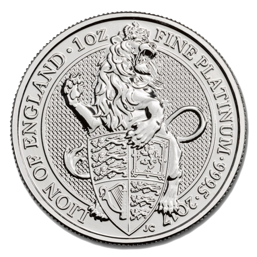 1 oz Queen's Beasts Leone | Platino | 2017