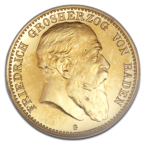 10 Mark Grand Duke Friedrich I Baden | Gold | 1902-1907