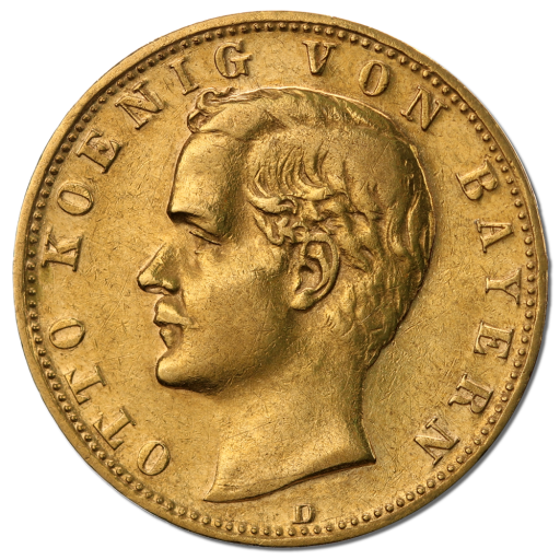 10 Mark King Otto Bavaria | Gold | 1886-1913
