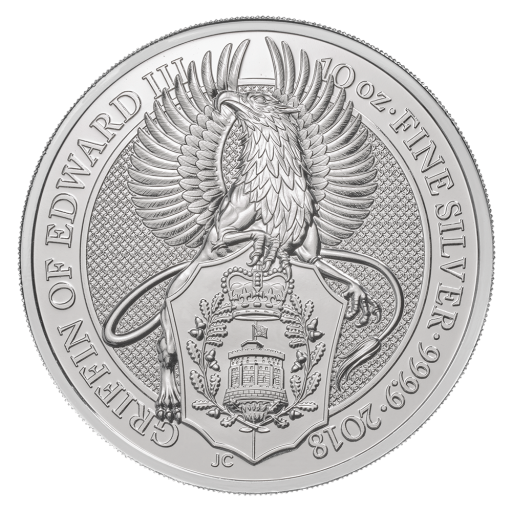 10 Oz Queen S Beasts Griffin 2018 Silver Coin Coininvest