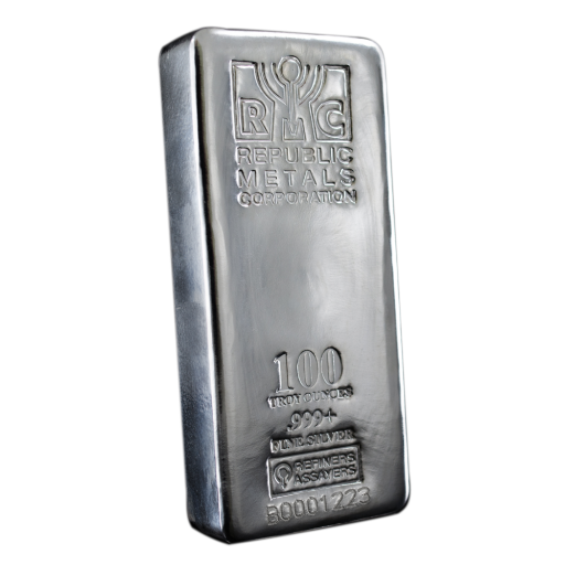 100 oz Lingotto d' Argento | Republic Metals