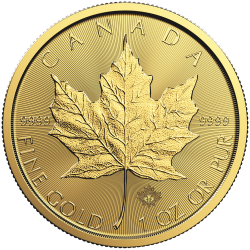 Moneda Maple Leaf de Oro