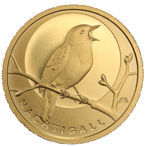 20 Euro German Native Birds Nightingale | Gold | 2016 | Mintmark D