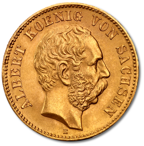 20 Mark King Albert I Saxony | Gold | 1873-1902