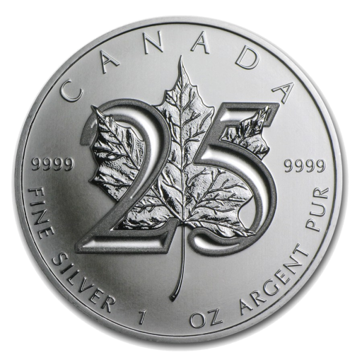 1 oz 25th Anniversary of the Silver Maple Leaf | Silver | 2013