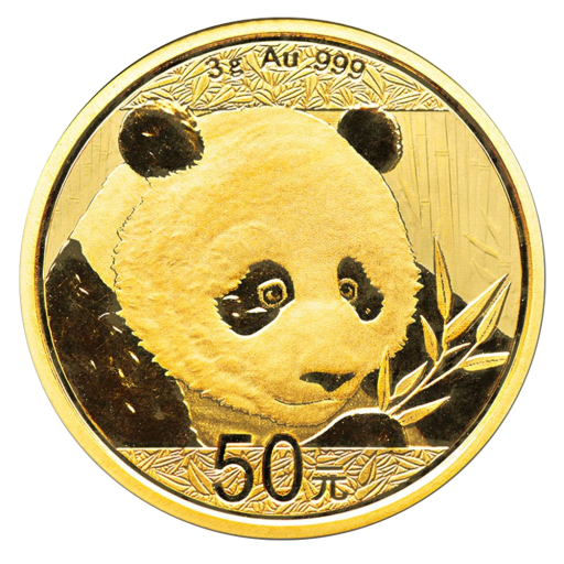 3g China Panda Gold Coin 2018