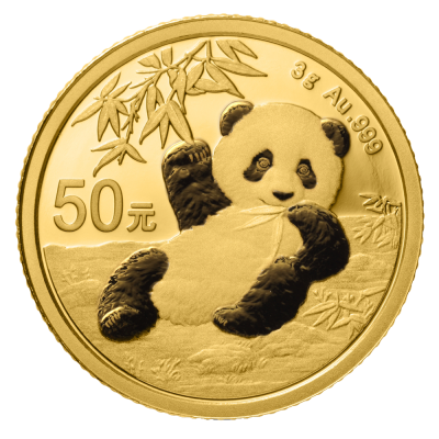 3g China Panda Gold Coin (2020)