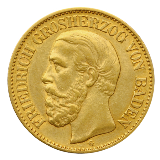 5 Mark Grand Duke Friedrich I Baden | Gold | 1877-1878