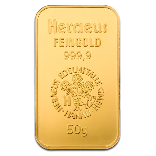 50g Gold Bar | Heraeus | 2nd Choice