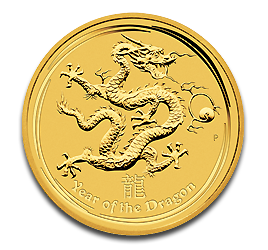 2 oz Lunar II Dragon | Or | 2012