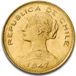 Chile 100 Peso Liberty Gold Coin