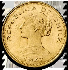 Chile 100 Peso Liberty Gold Coin