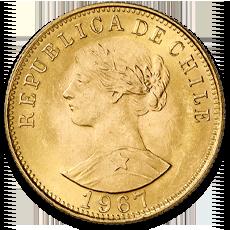 Chile 50 Peso Liberty Gold Coin