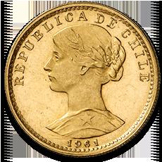 Chile 20 Peso Liberty Gold Coin
