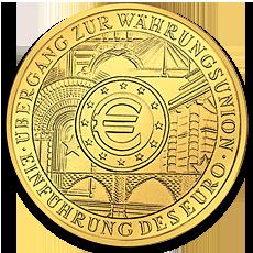 100 Euro European Monetary Union Gold