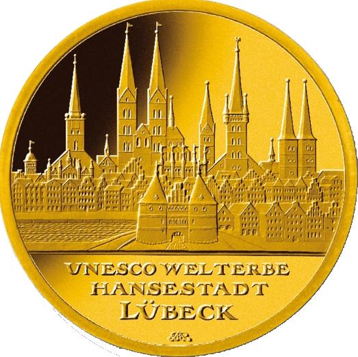100 euro lubeck gold coin