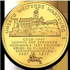 100 Euro Wartburg Gold Coin