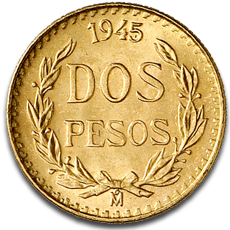 2 Mexican Peso Gold Coins