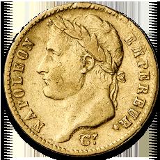 20 Francs Napoleon Bonaparte Gold Coin