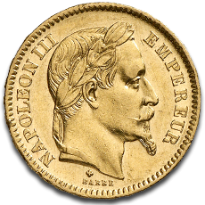 20 Francs Napoleon III Gold Coin