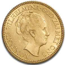 10 Dutch Guilder Gold Coin