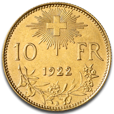 10 Swiss Francs Gold Coin