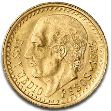 2.5 Mexican Peso Gold Coins