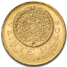 20 Mexican Peso Gold Coins