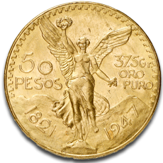 50 Mexican Peso Gold Coins