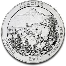 America the Beautiful Glacier National Park 5oz Silver Coin F