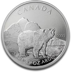 Silver Canadian Wildlife Grizzly Wildlife Series 2011 F