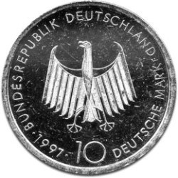 German 10 DM Silver Coin B 1987-1997