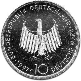 German 10 DM Silver Coin B 1987-1997
