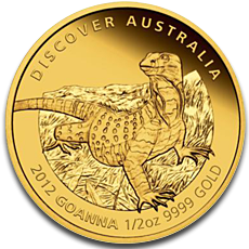 Goanna Gold Coin Perth Mint 2012