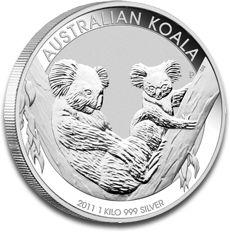 Koala 1kg Silver Coin 2011 F